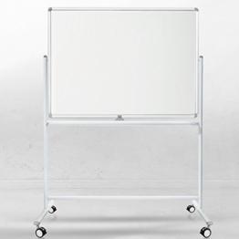 Mobiles Whiteboard | Magnet Tafel mit Fahrgestell und schutzlackierter Oberfläche | fahrbare Stativdrehtafel in 4 Größen (90 x 120 cm) - 1