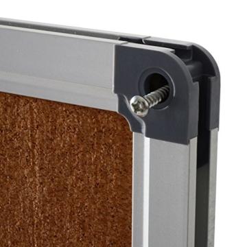 Office Marshal® Profi - Pinnwand mit hochwertiger Kork - Oberfläche   im stabilen Aluminiumrahmen   4 Größen   60x90cm - 3