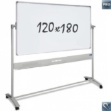 "Whiteboards ""Pro""– mobil – Emaille – doppelseitig – magnetisch – 120x180cm - 1"
